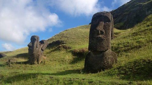 moai  quarry  easter island