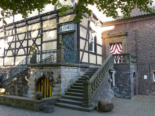 moated castle places of interest castle