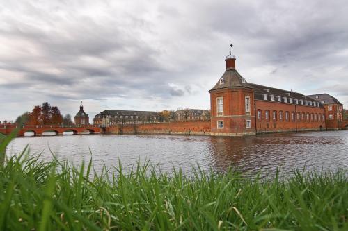 moated castle clouds münsterland