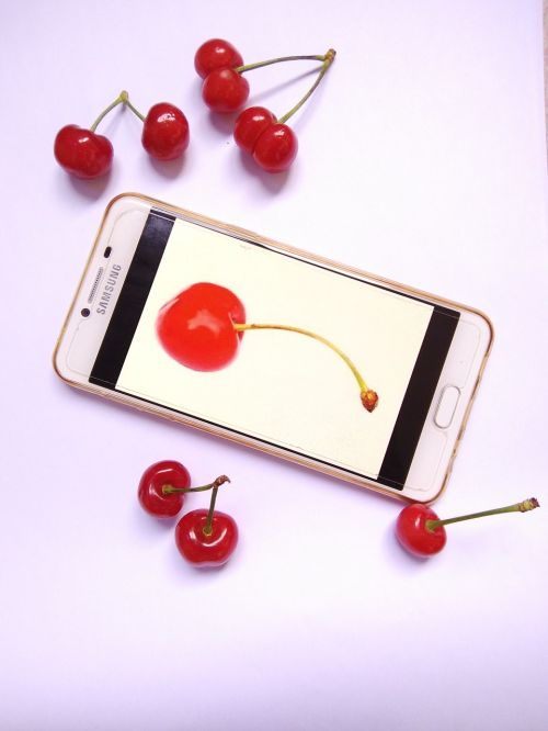 mobile cherry advertisement