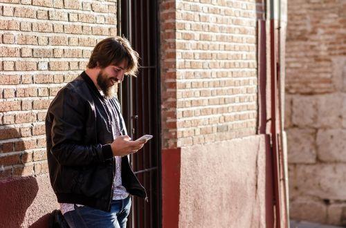 mobile fashion man
