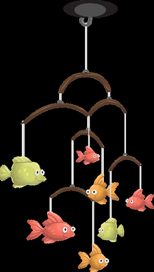 mobile fish hanging