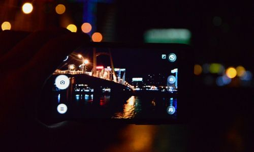 mobile the viewfinder night view