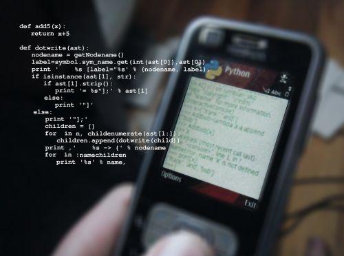 mobile phone python programming language