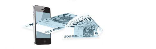 mobile phone euro money