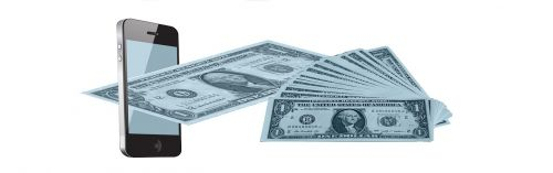 mobile phone dollar money