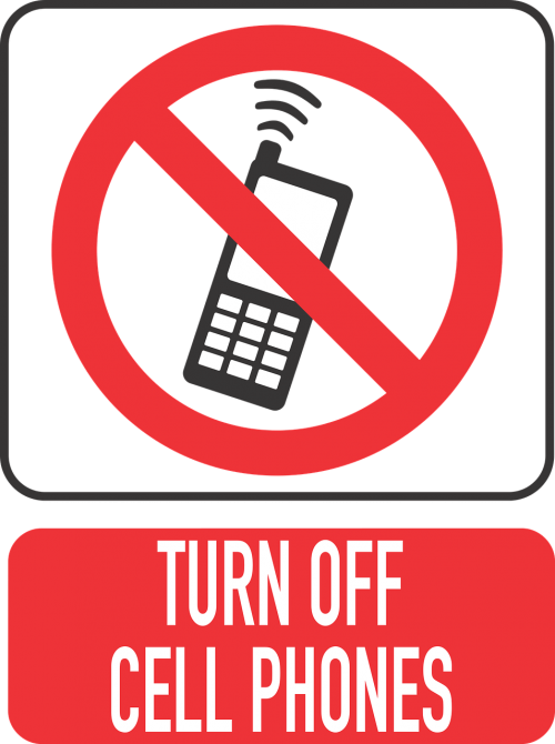 mobile phone turn off your cell phone close