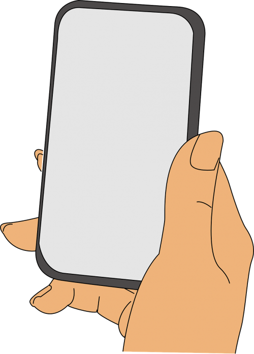 mobile phone hand touchscreen