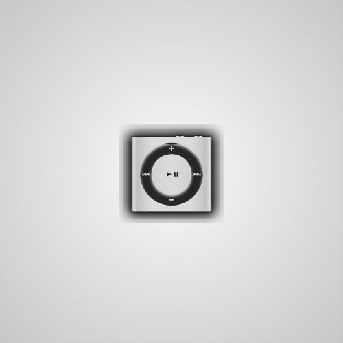 mockup ipod silver