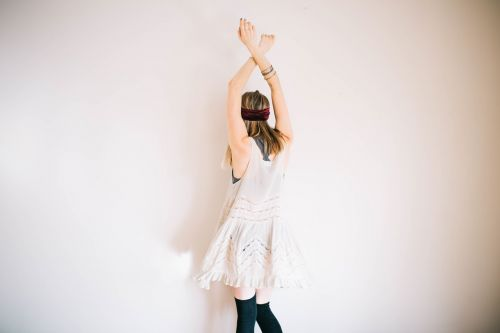 model arms raised female