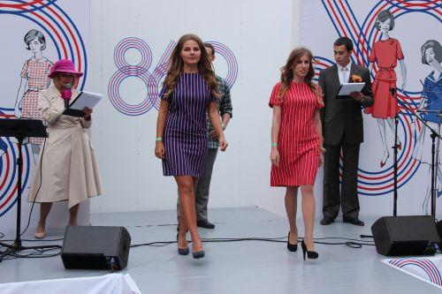 model showing fashion show