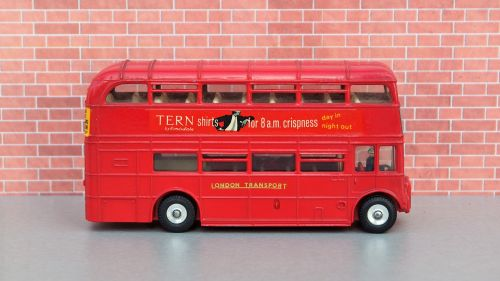 model car double decker bus london