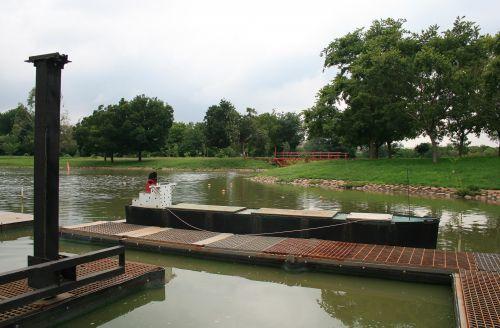 Model Oil Tanker In Boat Pond