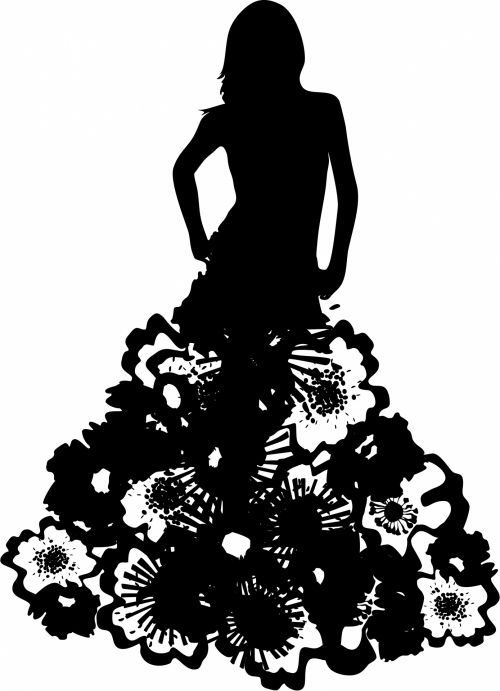 Model Silhouette Dress Couture