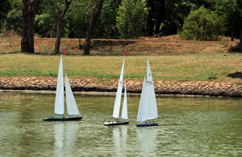 Model Yachts On The Water