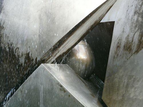 modern art ball fountain