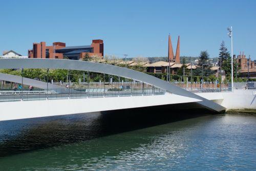 modern bridge san sebastian panorama