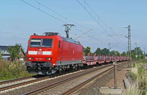 modern freight train steel slabs heavy traffic