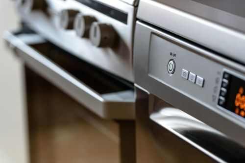 modern kitchen household appliances cooker