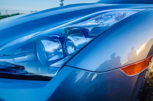 Modern Street Race Car Headlight