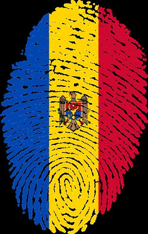 moldova flag fingerprint