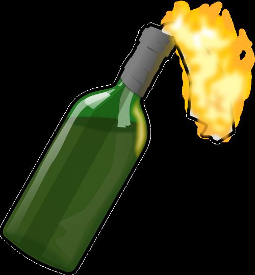 molotov cocktail bottle explosive