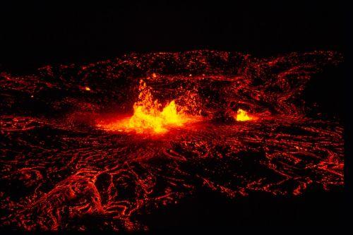 molten volcano lava