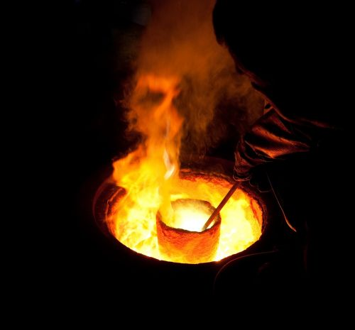 molten metal crucible melting