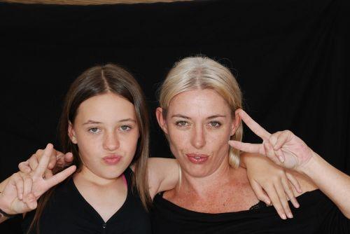 mom daughter family