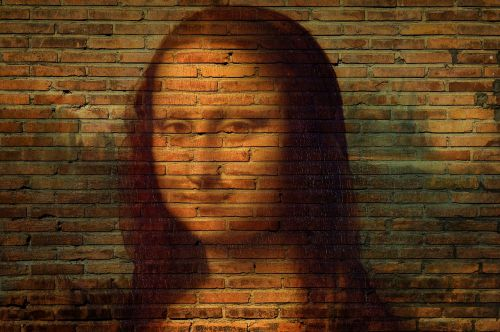 mona lisa portrait art