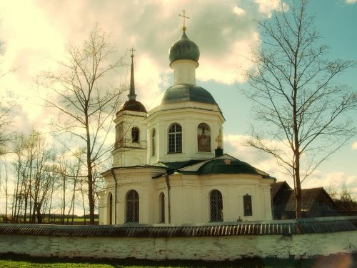 monastery pskov region temple