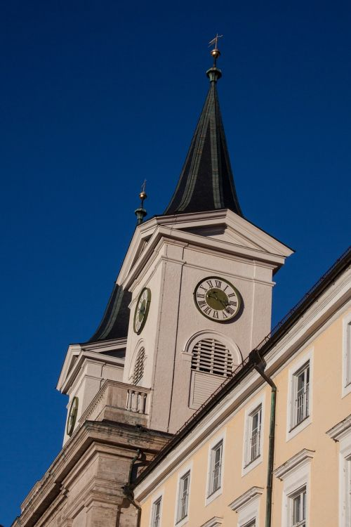 monastery church steeples pointed