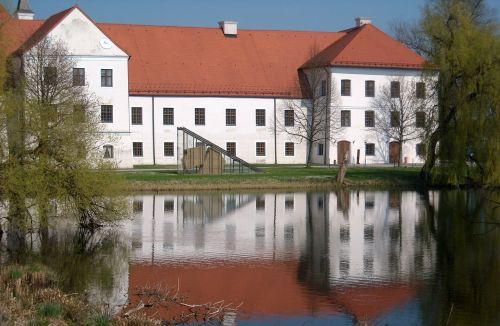monastery monastery seeon water reflection