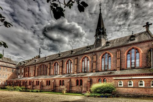 monastery building hdr