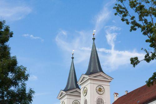 monastery church steeples monastery church