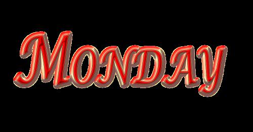 monday weekday monday red