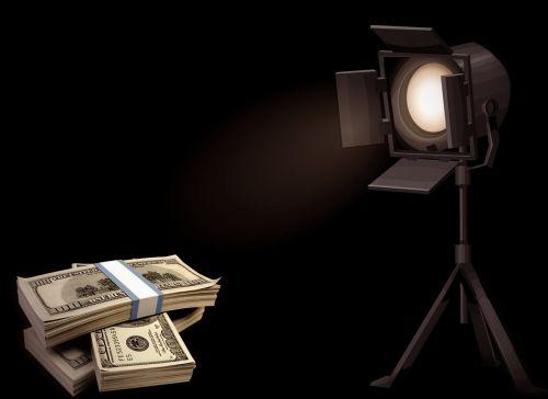 money spotlight dollar