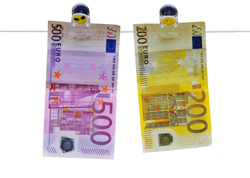 money seem euro bills