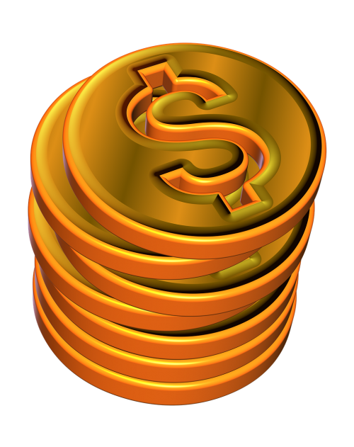 money money pile tokens