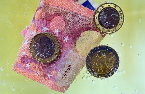 money dollar bill coins