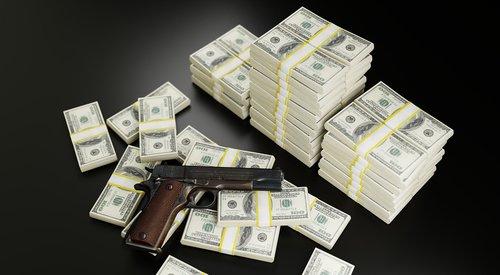 money  dollars  gun