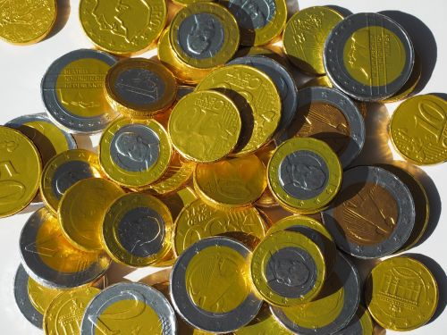 money coins chocolate taler