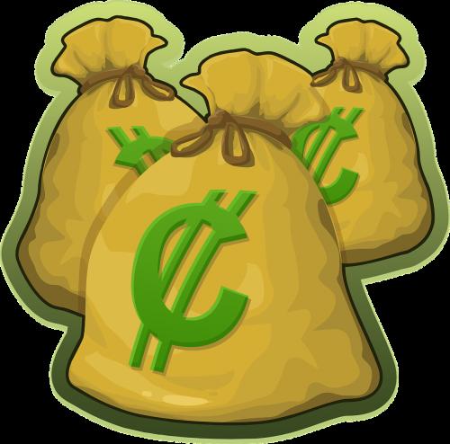 money bags cash