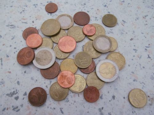 money loose change coins