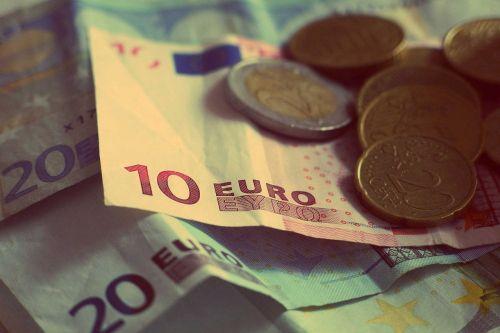 money euros banknotes