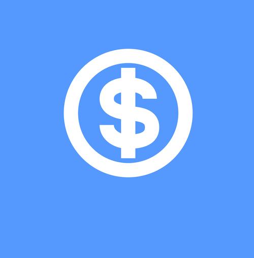 money icon  icon  icon blue