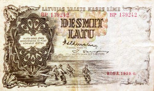 money latvia lat bill