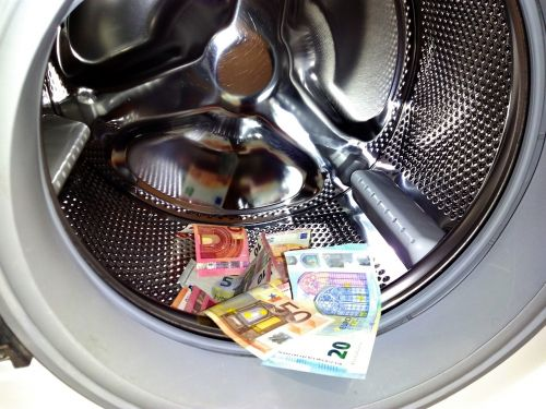 money laundering money euro