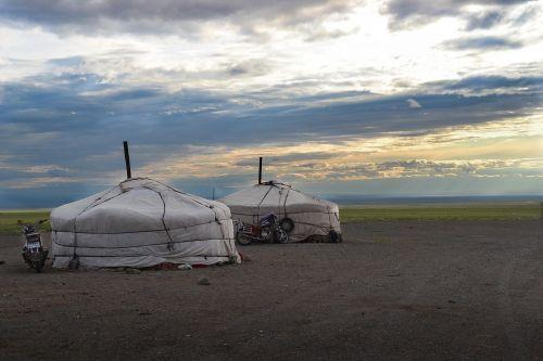 mongolia yurts steppe