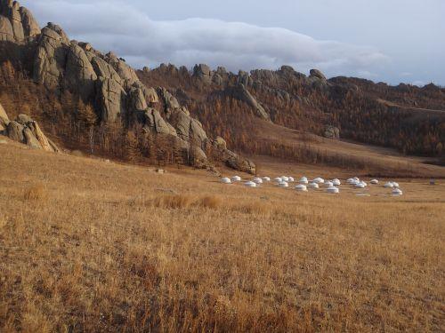 mongolia national park steppe
